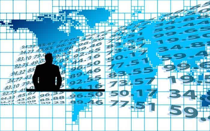 ilustração de números e pessoas para texto sobre como investir na bolsa