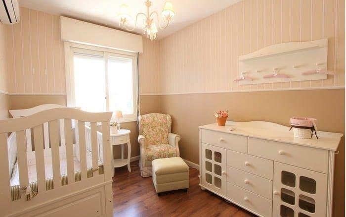 Imagem de quarto de bebê para ilustrar post sobre quarto de bebê pequeno