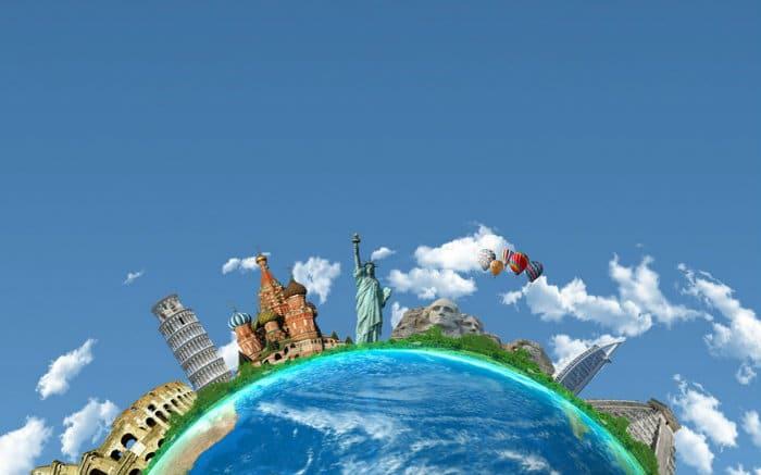 imagem de globo para ilustrar texto sobre o que é seguro viagem
