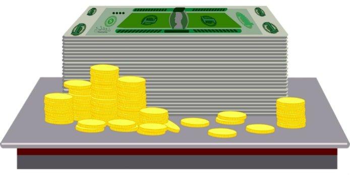Imagem de dinheiro ilustrando texto sobre rendimento do FGTS