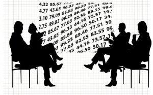 Ilustração de números e pessoas para texto sobre portabilidade de empréstimo
