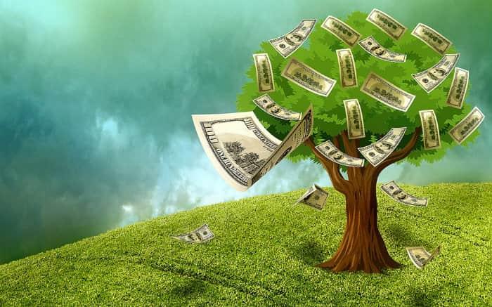 Imagem de árvore dando dinheiro para ilustrar texto sobre crédito pré-aprovado