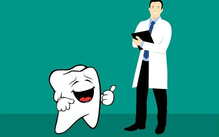 Ilustração de dente e dentista para texto sobre Porto Seguro Odontológico