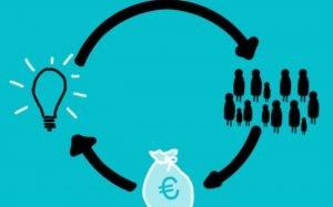 Imagem de ilsutração sobre dinheiro e escolhas para texto sobre financiamento ou consórcio.