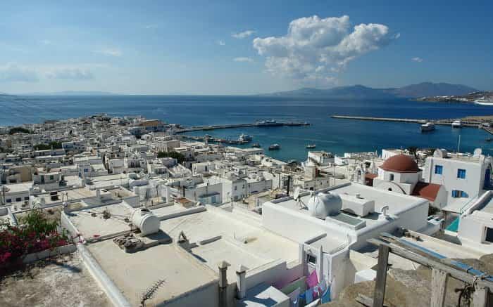 Foto de Mykonos para texto sobre viagem de lua de mel