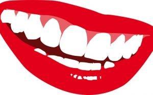 Desenho de uma boca sorrindo para ilustrar texto com dicas para um sorriso perfeito.