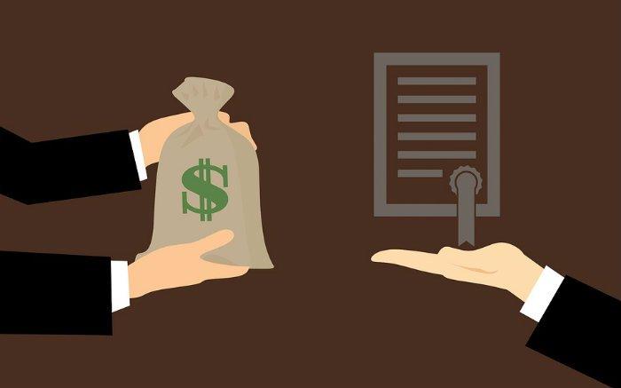 Ilustração de dinheiro e contrato para ilustrar texto sobre contragarantia