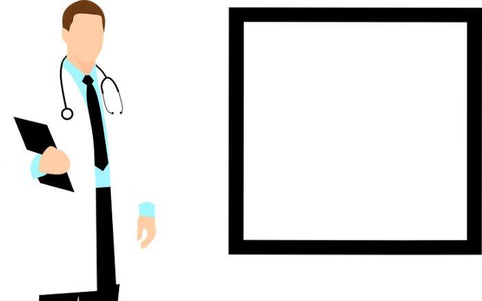 Ilustração de médico para texto que fala se plano de saúde cobre internação