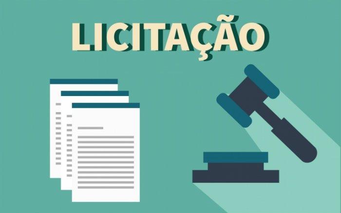 """Ilustração de papeis e o escrito """"licitação"""" para texto sobre seguro garantia licitação"""