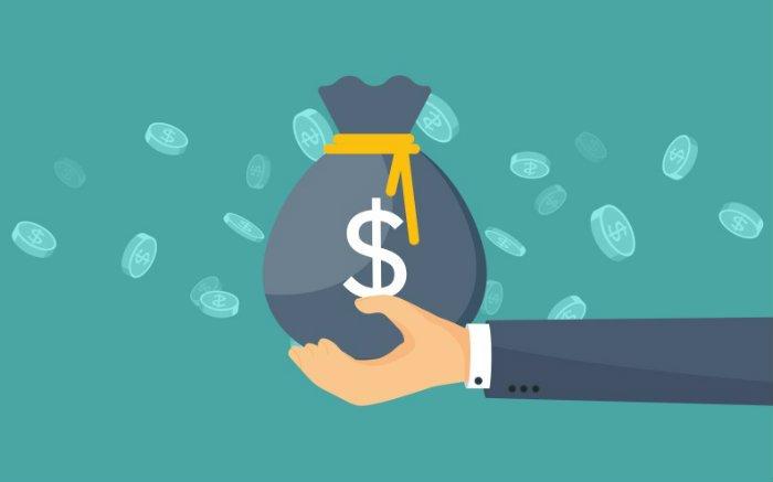 ilustração de pacote de dinheiro pra texto sobre como calcular seguro garantia