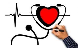 Desenho de coração e estetoscópio para ilustrar texto sobre como cancelar plano de saúde