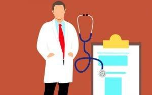 Ilustração de médico para texto sobre plano de saúde referência
