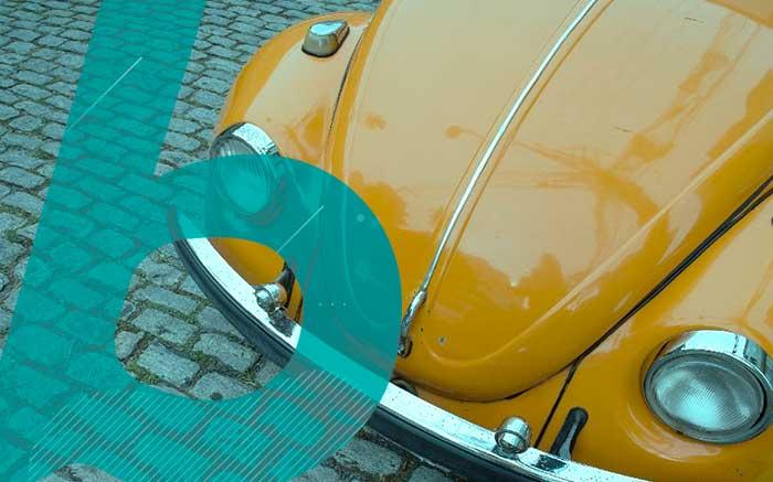 Imagem de fusca para texto sobre carros clássicos brasileiros