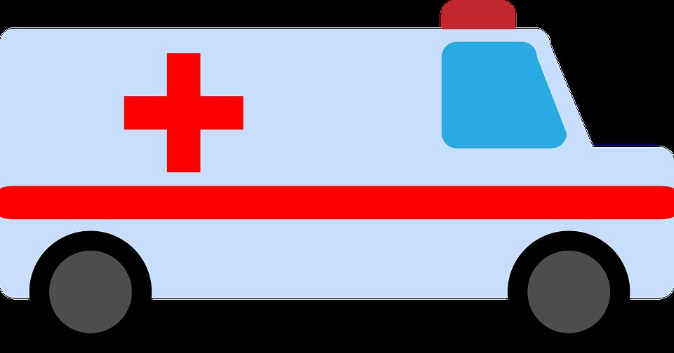Desenho de ambulância para ilustrar texto sobre Hospitais que atendem Bradesco em São Paulo
