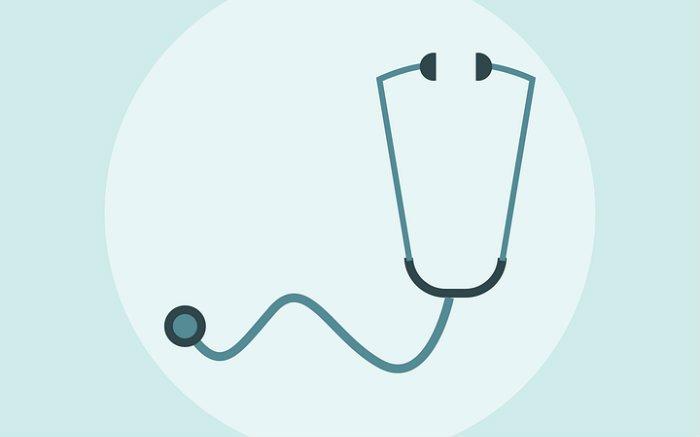 Desenho de estetoscópio para ilustrar post sobre lista de doenças preexistentes