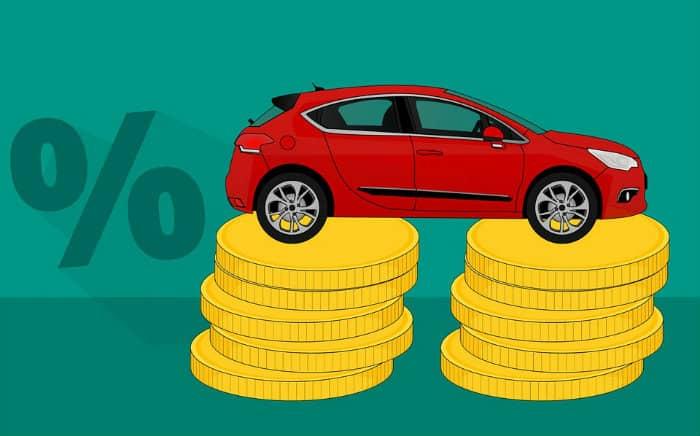 Desenho ilustrativo de carro e dinheiro para texto sobre boleto do seguro auto