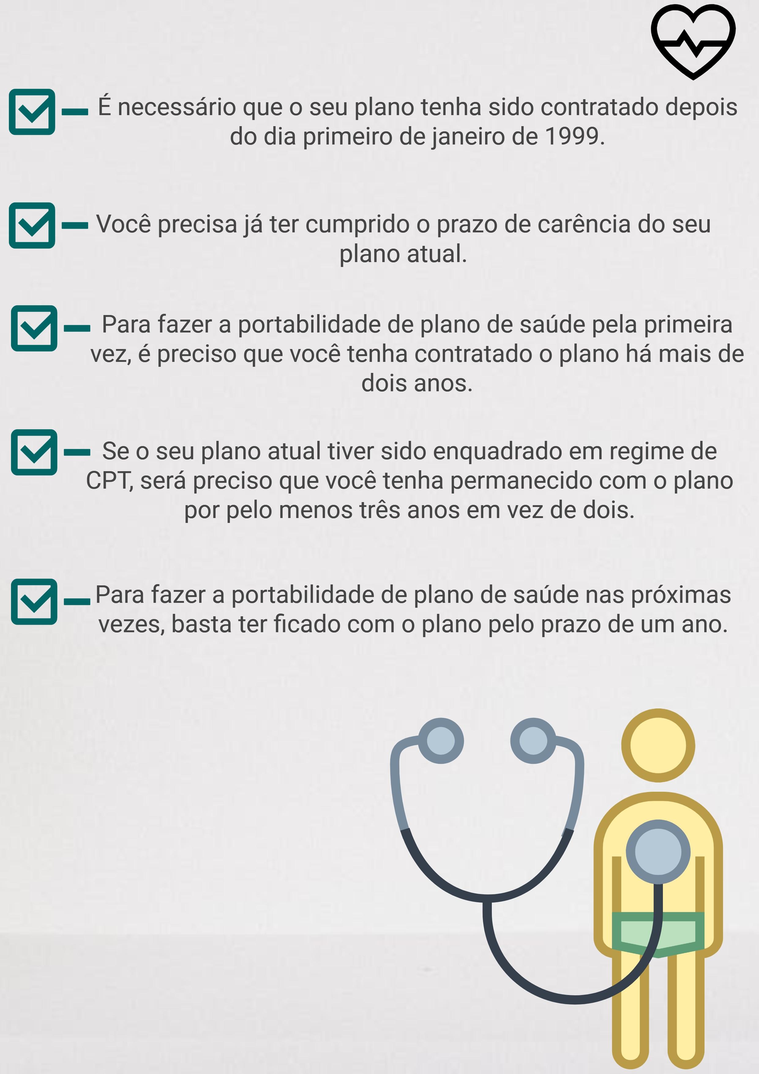 Imagem com informações de como fazer portabilidade do plano de saúde