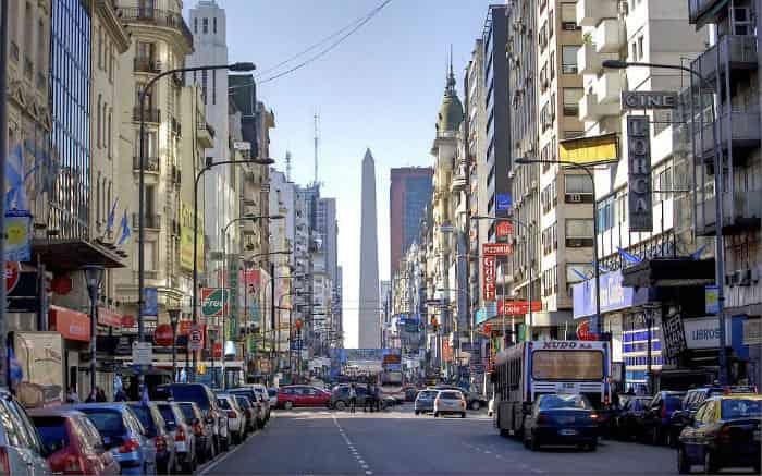 Foto de Buenos Aires para texto sobre destinos internacionais baratos