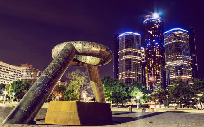 Foto de Detroit para texto sobre destinos internacionais baratos