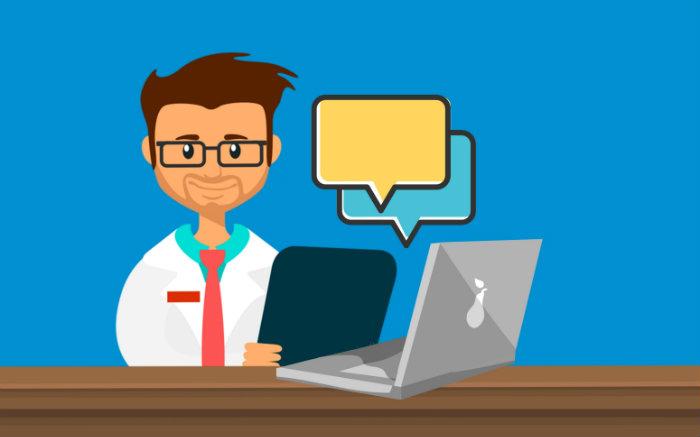 Ilustração de médico para texto sobre trocar plano de saúde individual por MEI