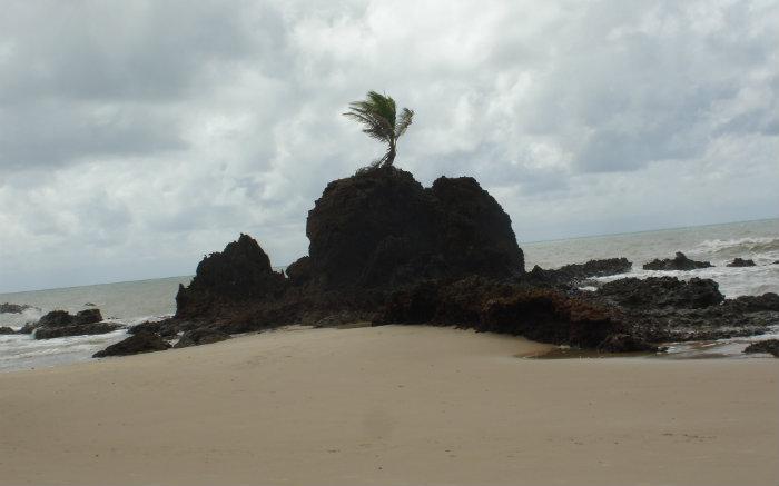 Imagem de praia para texto sobre praias de nudismo