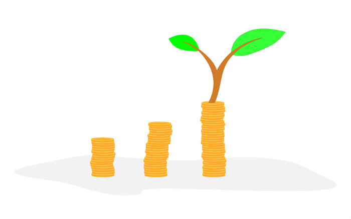 Desenho de dinheiro crescendo como árvore para ilustrar texto sobre investimento com pouco dinheiro
