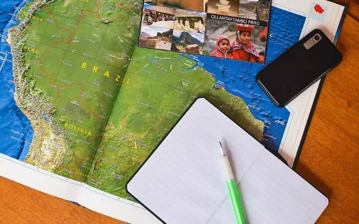 Imagem de mapa para texto sobre apólice do seguro viagem