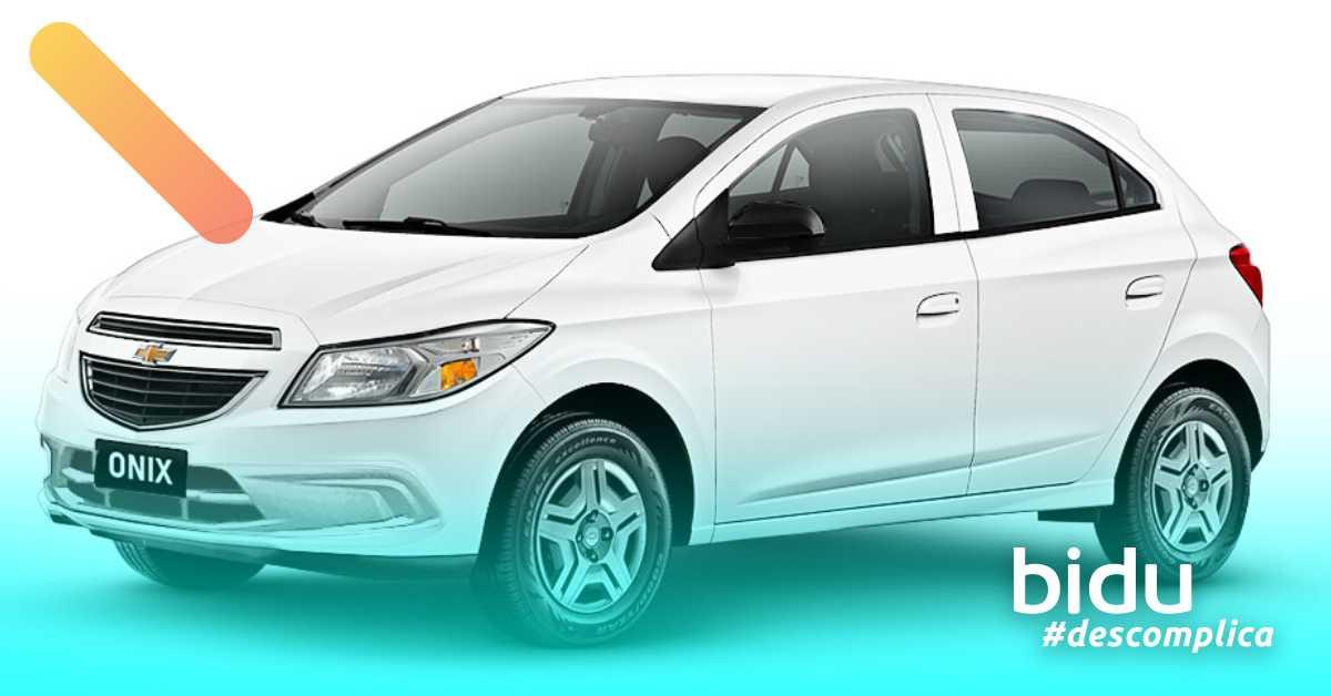 Foto do carro Onix para texto sobre carros populares mais vendidos