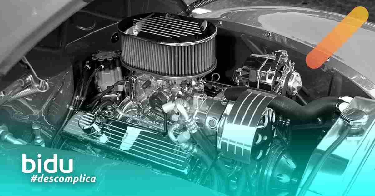 Imagem de motor de carro para texto sobre o calço do motor