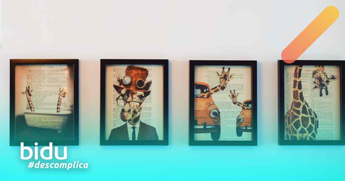 Foto de parede com quadros para texto sobre como montar parede de quadros