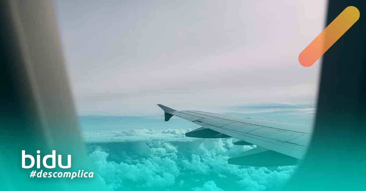 Imagem de avião para texto sobre medo de avião