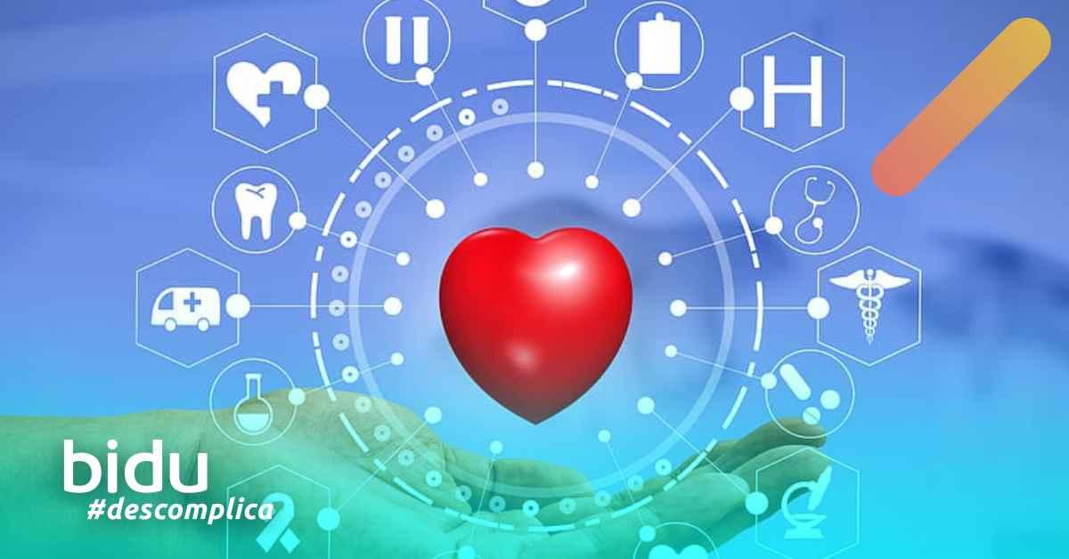 desenho de ícones de saúde para texto sobre plano de saúde melhor para mim